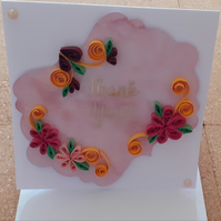 Quilled Thank You Card