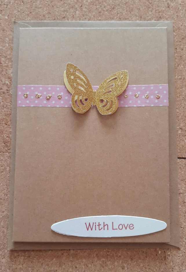 Butterfly Valentine's Card