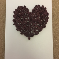Personalised Quilled Heart Card