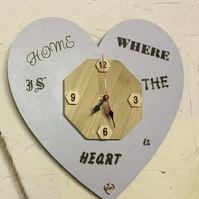 Home is where the heart is-wall clock