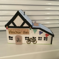 Miniature model of Anchor Inn