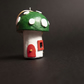 Mini fairy house toadstool decoration (green and red)