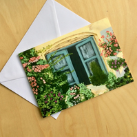 "Greetings card ""French window"""