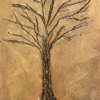 Glue gun art - Tree
