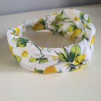Lemon print Alice Band
