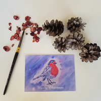 Christmas Robin Postcard Set 10, Art Postcards, Postcard Sets, Nature Postcards