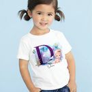 Girls Personalised Unicorn Whale Printed Birthday T-shirt Any Name