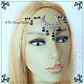 Hematite Black & Silver Filigree Moon Headpiece, Wicca Witch Goddess Circlet