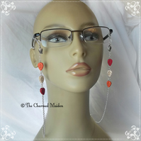 Autumn Leaves Spectacle Glasses Chain, Sunglasses, Beaded Chain Eyeglass Holder
