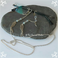 Angels Wings Spectacle Glasses Chain, Spiritual Angelic Beaded Sunglasses Cord