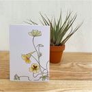 Nasturtium Notecards - 5 blank cards with envelopes