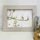 Magnolia Flowers Original Watercolour Painting