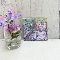 Miniature Flower Painting, Tiny Flower Painting, Bright Painting