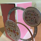 Girly happy birthday card