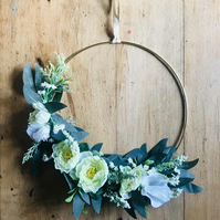 Artificial Gyp and Ranunculus Wreath