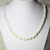 Freshwater Pearl and 925 Silver Elegant Necklace