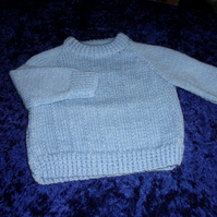 Blue Round Neck Jumper