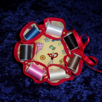 Cotton Reel Pin Cushion and Needle Case Set