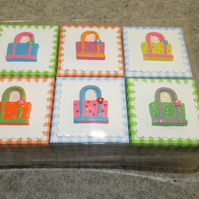 "Favour Boxes 2"" x 2"" or 5cm x 5cm Set of 6"