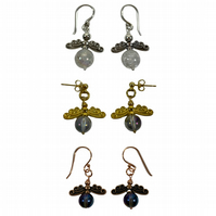 Custom Birthstone Angel Earrings - Stocking Fillers - Christmas Gifts Under 15