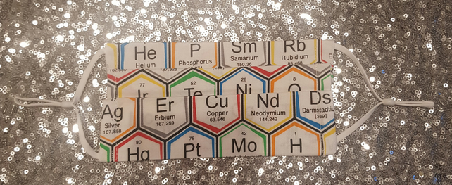 Periodic Table Chemistry Face Mask Covering