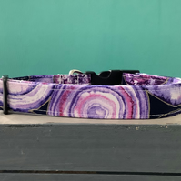 Agate Rocks Purple pet collar, lead, adjustable collar, dog