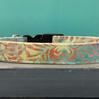 Batik pastel pet collar, lead, adjustable collar, dog