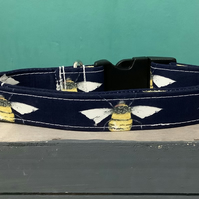 Manchester bee pet collar, lead, adjustable collar, dog