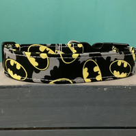 Batman pet collar, lead, adjustable collar, dog, dc comic