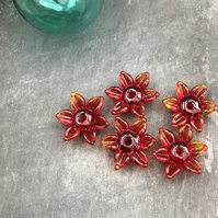 Flower Glass Beads