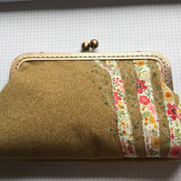 Clutch purse with floral tree detail