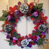 Purple floral wreath