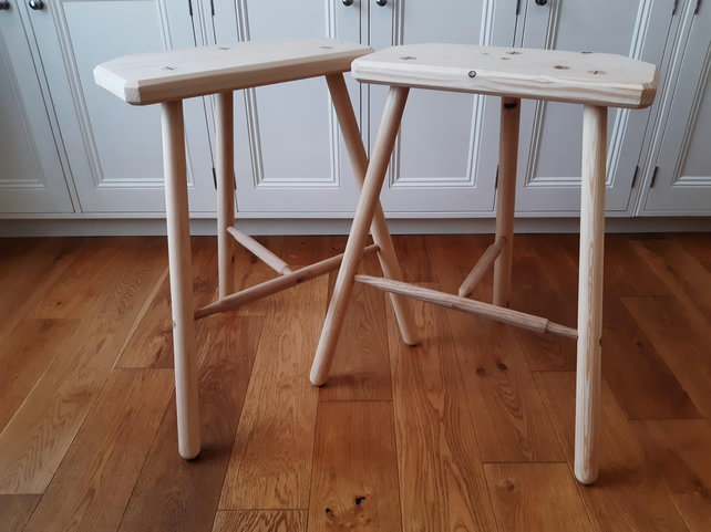 Handmade wooden bar stool and kitchen stool