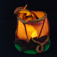 Fire dragon candle holder