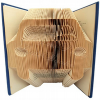 Car Folded Book Art
