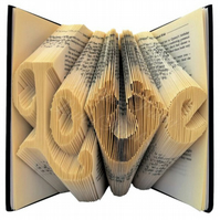Footprints Love Folded Book Art