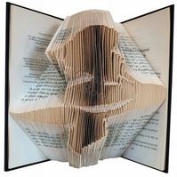 Mermaid Folded Book Art