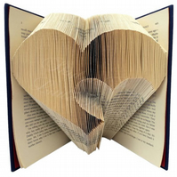Cutout Heart Folded Book Art