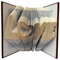 Graffiti Love Heart Folded Book Art