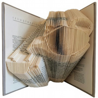Afternoon Tea Pouring Teapot Folded Book Art