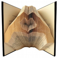 Hands Heart Love Folded Book Art
