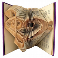 Treble Clef Heart Folded Book Art