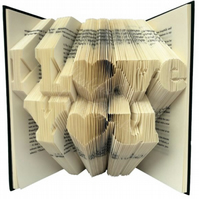 I Love You Folded Book Art