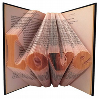 Love Folded Book Art