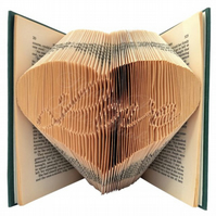 Love Inside A Heart Folded Book Art