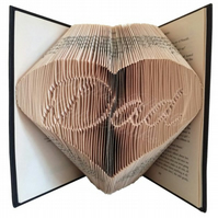 Dad In A Heart Family Folded Book Art