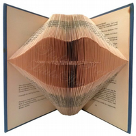 Read My Lips Folded Book Art