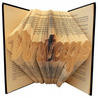 Vintage Folded Book Art