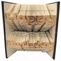 Happy Birthday Celebration Folded Book Art