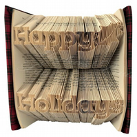 Happy Holidays Celebration Folded Book Art